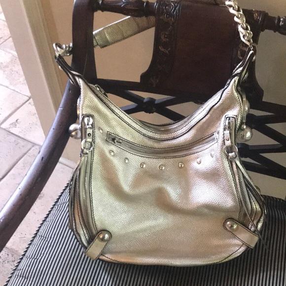 206e575381d Versace Bags   Silver Leather Shoulder Bag   Poshmark